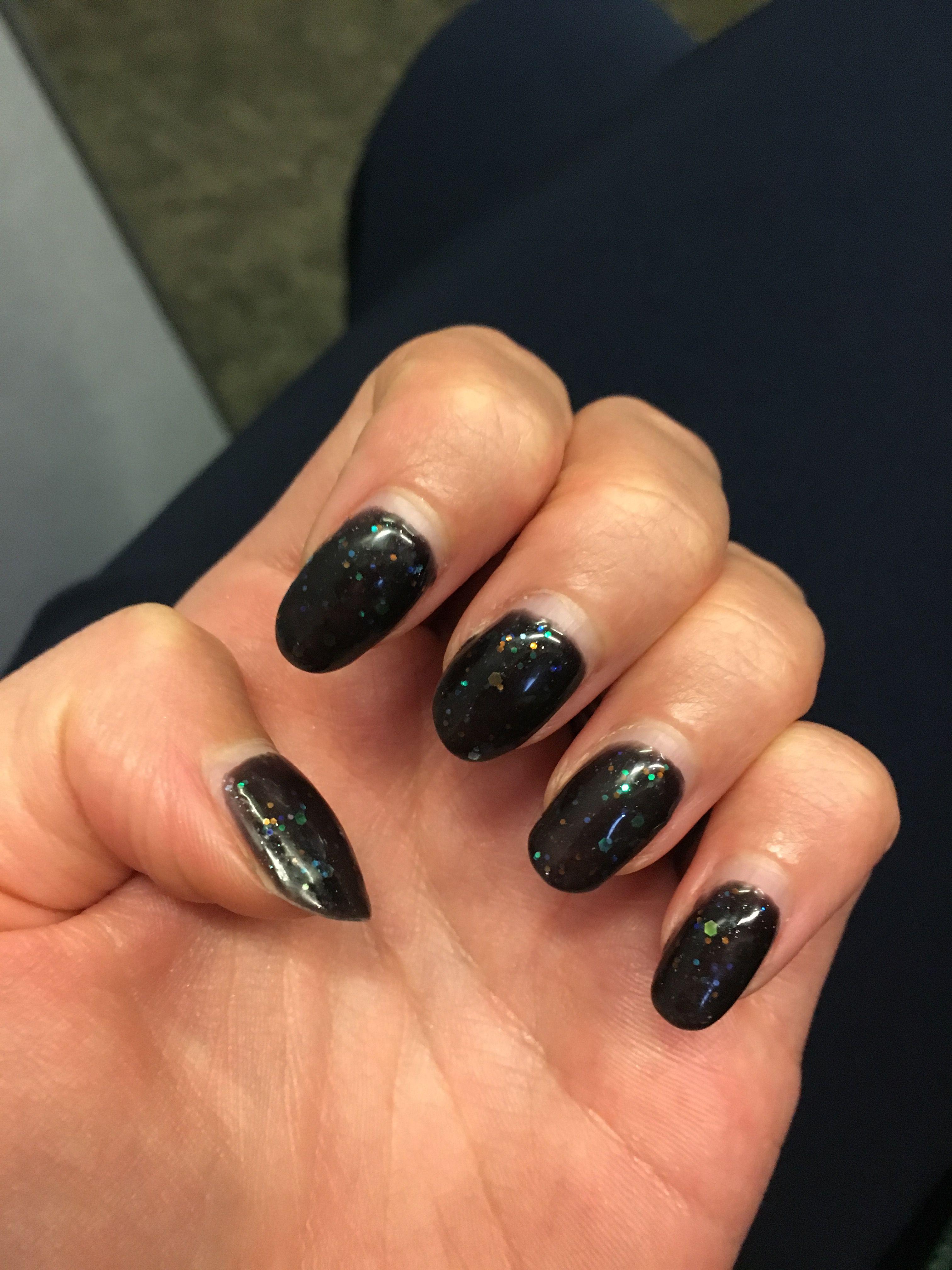 Bluesky black diamond glitter gel after 11 days | Shellac nails ...