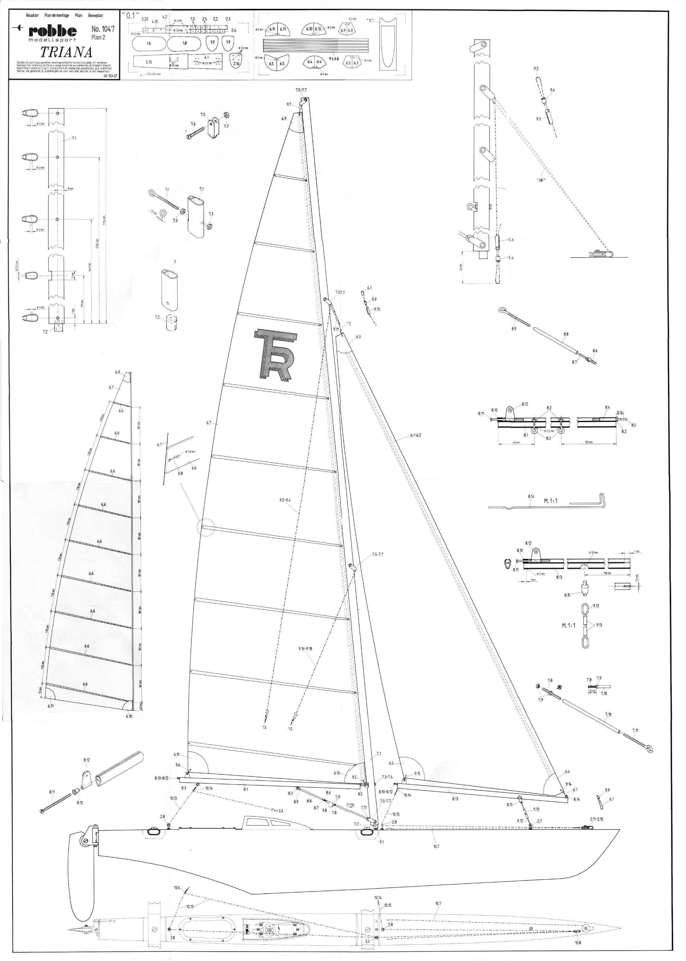 IWEMA Enterprise  The power of RC multi hull sailing  Plans Triana