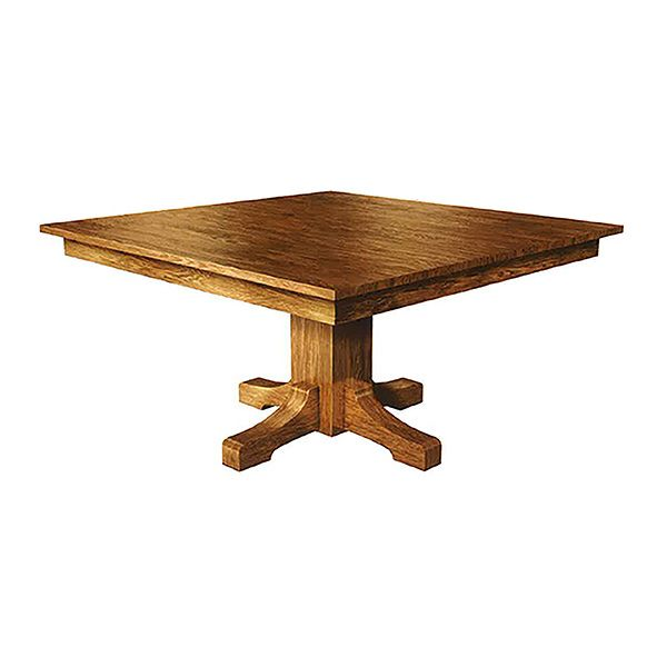 This Amish Hand Made Square Dining Table Is Shown In 48 By 48