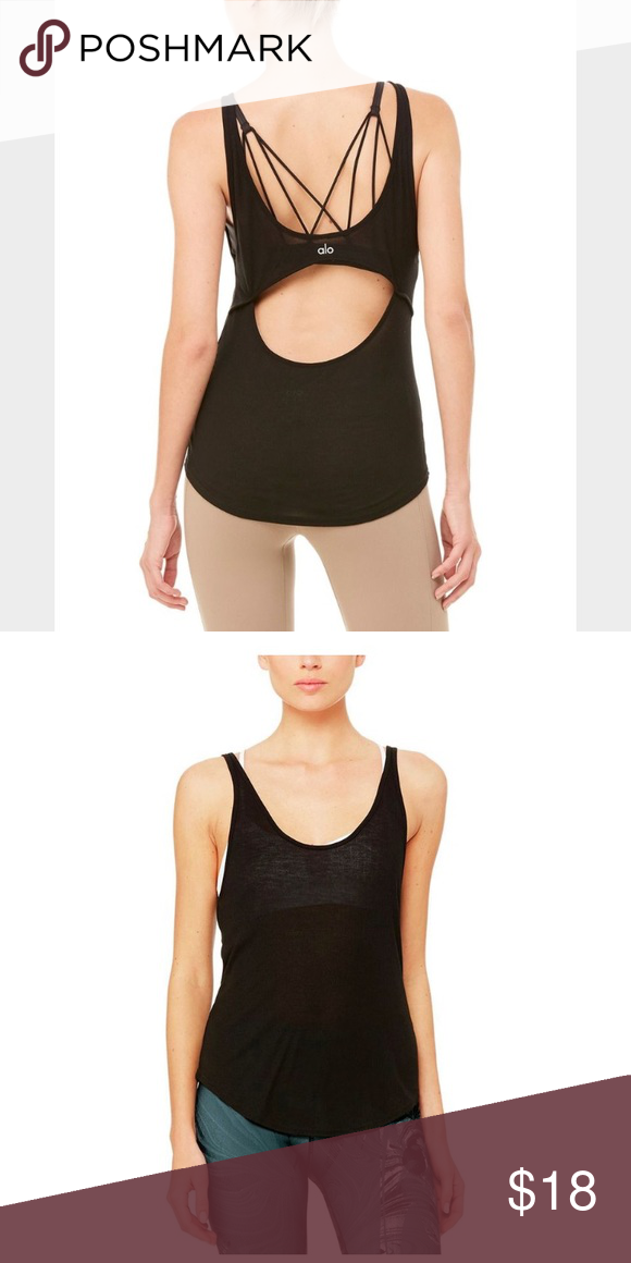 b6336f443596c ALO Yoga Sculpt Tank XS Like new workout top from ALO- semi sheer with a  sexy open back. ALO Yoga Tops