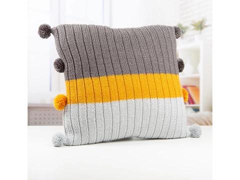 Knitted Cushion by Lynne Rowe in Deramores Studio Aran ...