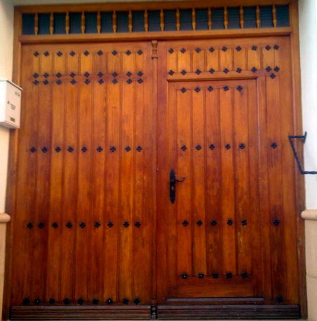 Porton 3 portones madera pinterest puertas de madera for Portones madera rusticos