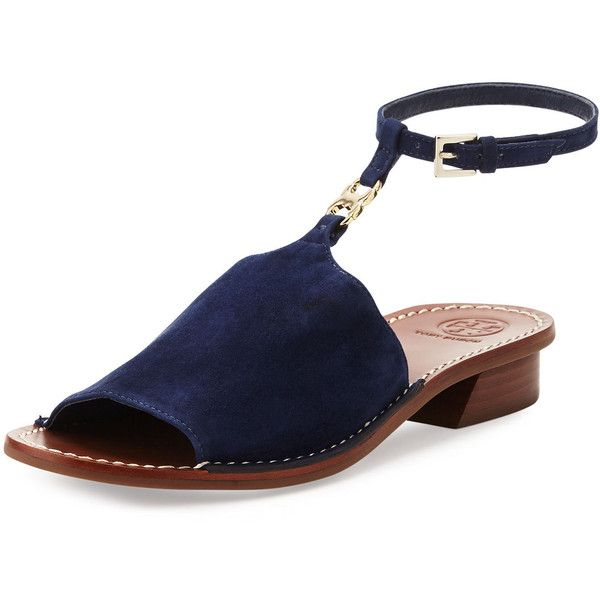 9f61a2575 Tory Burch Gemini Link Ankle-Wrap Sandal ( 290) ❤ liked on Polyvore  featuring