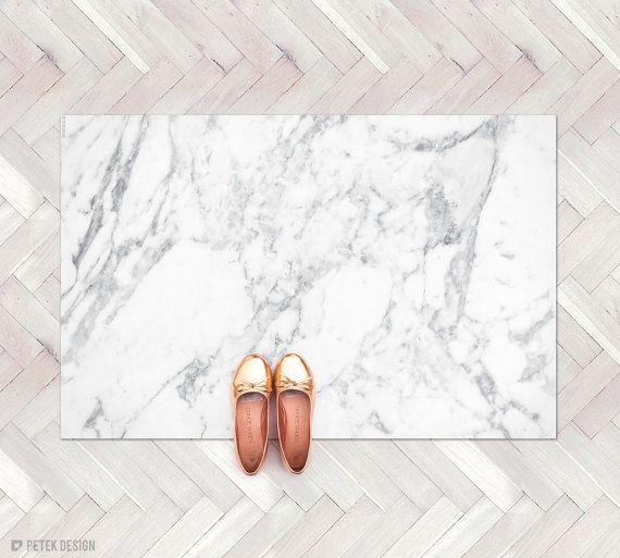 White Marble Rug Marble Decor Kitchen Rug Minimalist Etsy