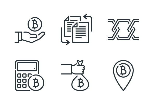 Cryptocurrency Bitcoin And Blockchain Icons By Kalash Cryptocurrency Bitcoin What Is Bitcoin Mining