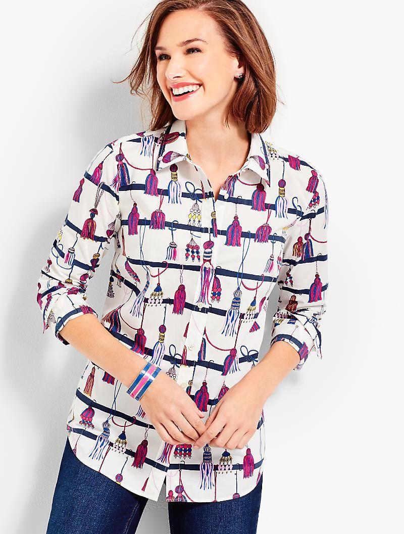 570fe405fe5 The Classic Cotton Shirt - Tassel Print