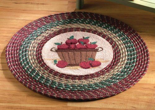 Apple Kitchen Round Braided Accent Rug By Collections Etc By Collections,  Http://