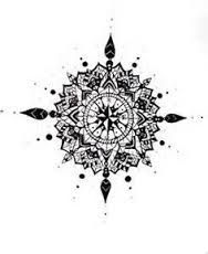 Rose Des Vents Mandala Ta Too Tattoos Compass Tattoo Design