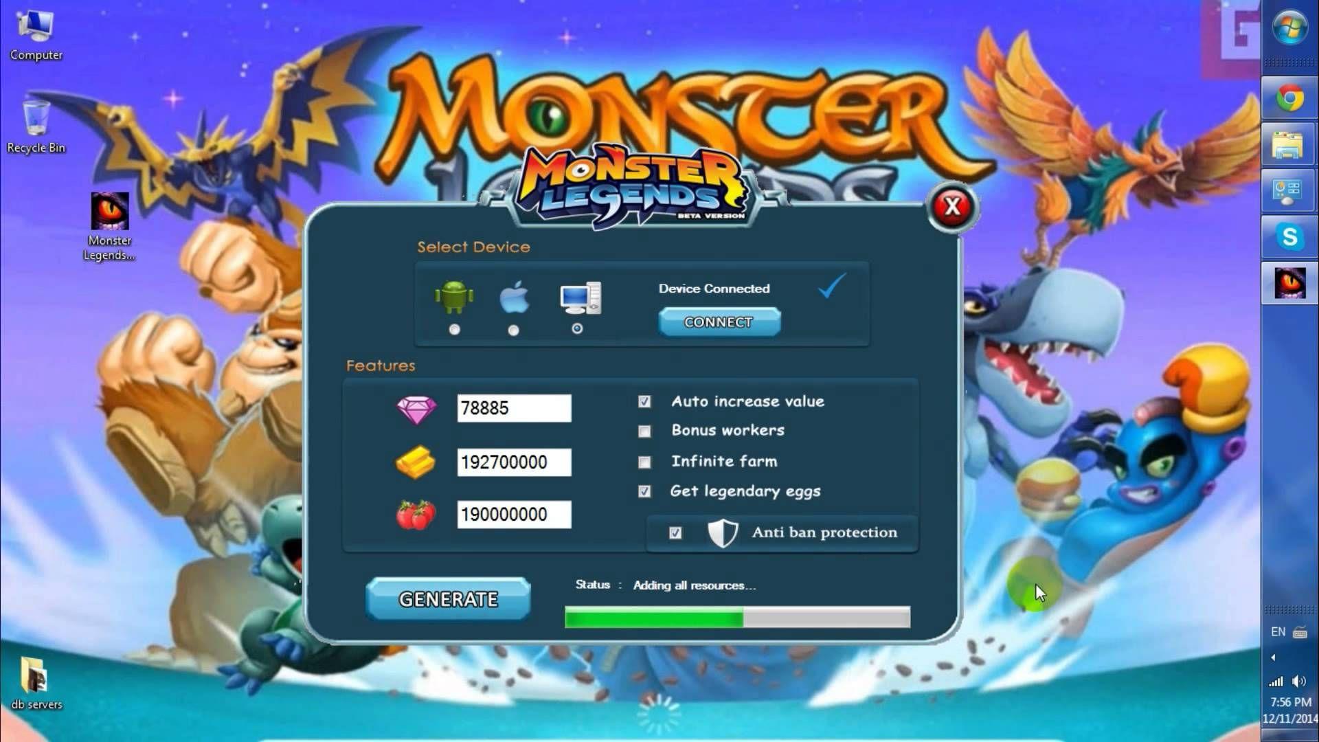 [No Survey] Monster Legends Hack 2018 Updated Generator