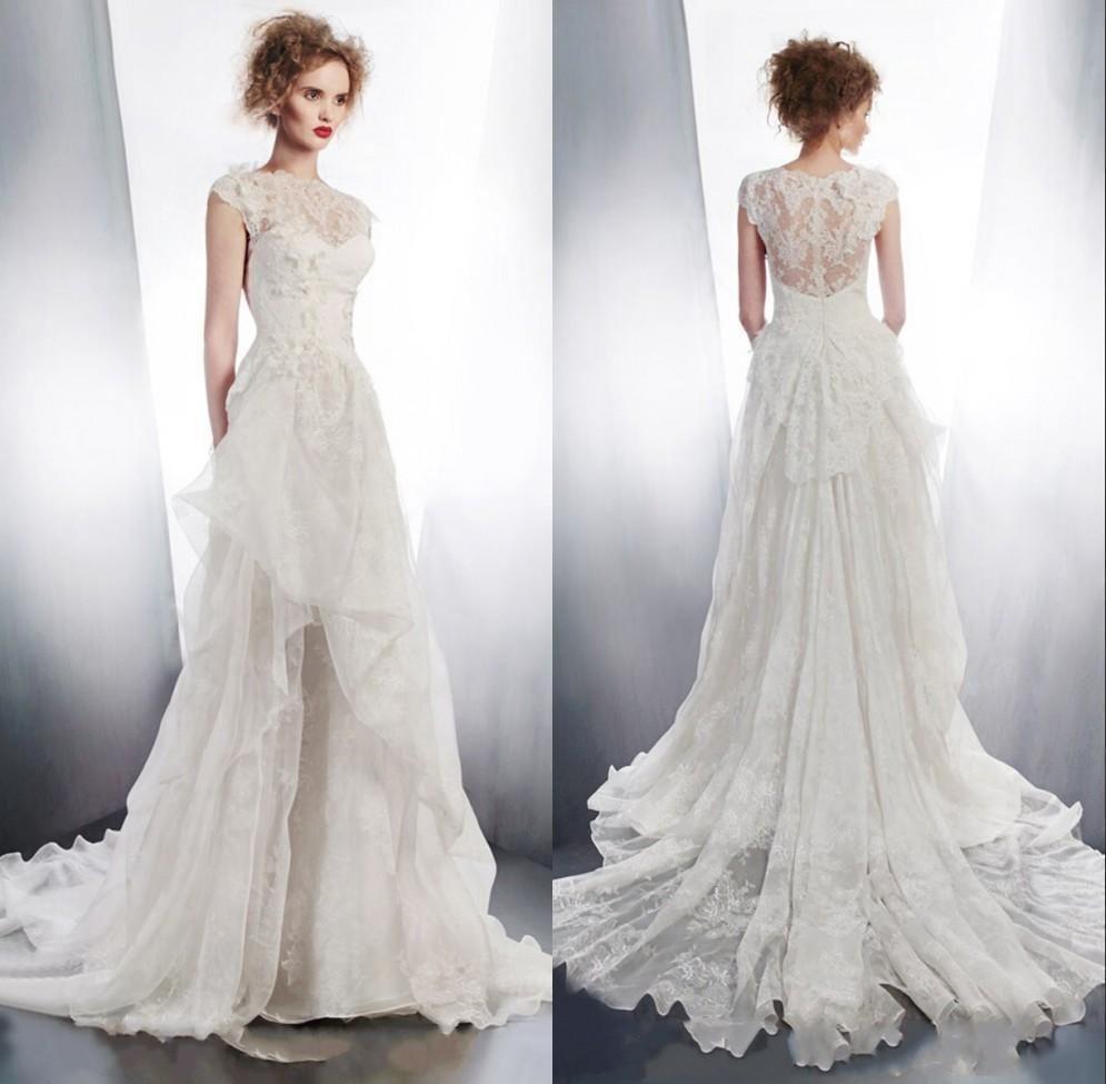 2015 Unique Design High Neck Elegant Wedding Dress Fashion Party Deb Hot