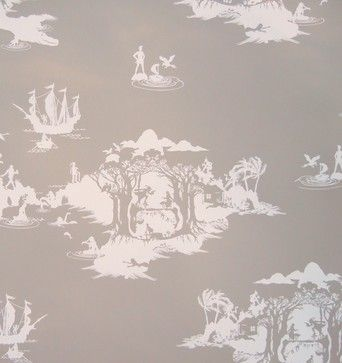 Peter Pan Wallpaper White On Slate Eclectic Walnut