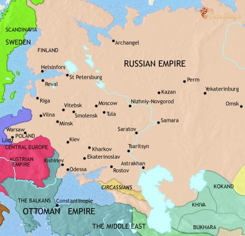 history map of Russia 1837AD WHAP Pinterest Russia and History