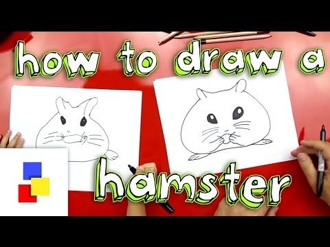How To Draw A Hamster - Art for Kids Hub | Drawing,folding and ...
