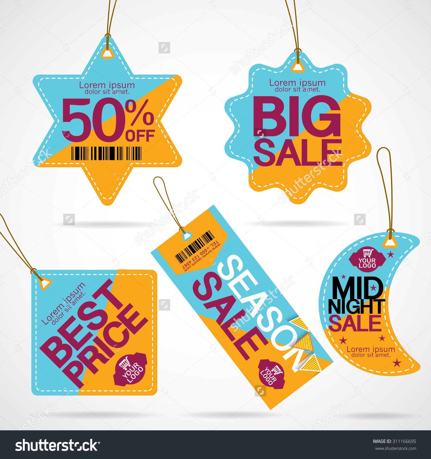 Price Tags Design With Best Discount Offers Special Price