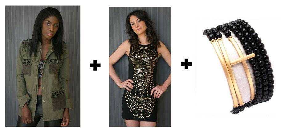 #thealchemyshop #outfit #outfitofday #spikes #grunge #fashion #jewelry #style #fashion #bracelets #dress #bodycon