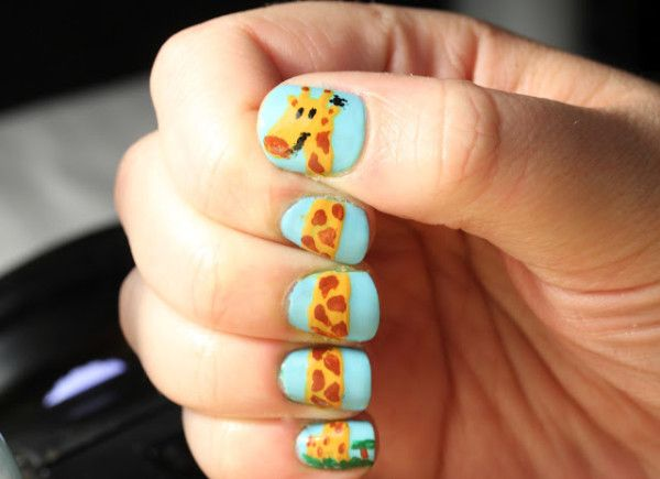 Easy And Simple Zoo Animals Nail Art Designs Nails Art Pinterest