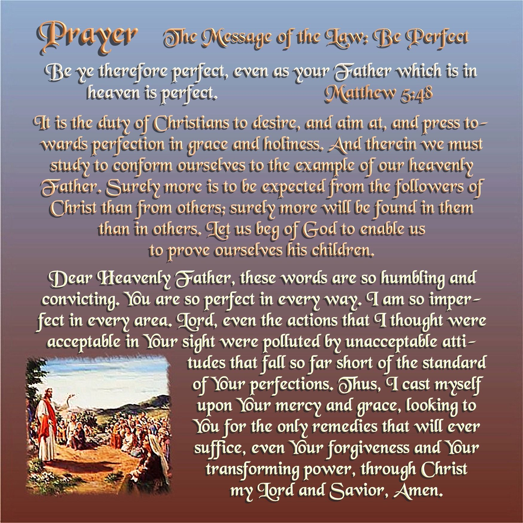 Today's Prayer The Message of the Law Be Perfect