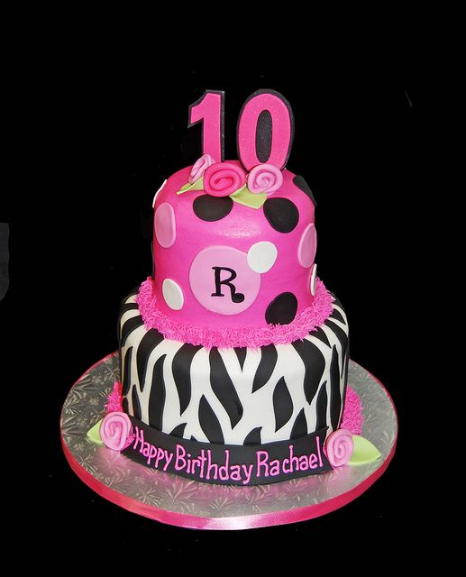 Zebra Pink Cake Ideas