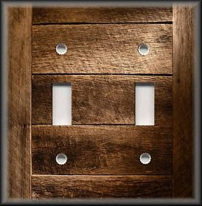Details About Metal Switch Plate Rustic Barn Wood Planks Design