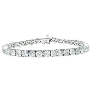 Igi Certified 10k White Gold 4 Prong Diamond Tennis Bracelet Tennis Bracelet Diamond Diamond Tennis Bracelet