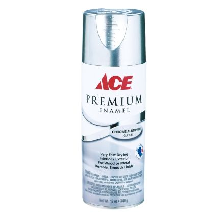 Ace Premium Gloss Chrome Aluminium Enamel Spray Paint 12 Oz Enamel Spray Paint Silver Spray Paint Spray Paint