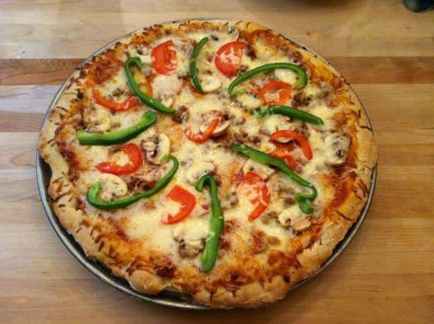 pizza hut style pizza dough bread machine recipe cooking
