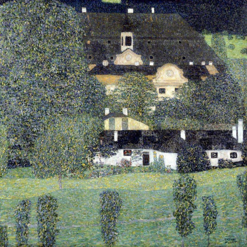 Kunstdruck In Wunschgrosse Von Klimt Gustav Schloss Kammer Am Attersee Ii Klimt Gustav Klimt Bilder