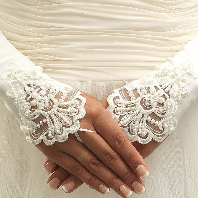 crochet wedding favors free patterns   Pin Fingerless Bridal Glove ...