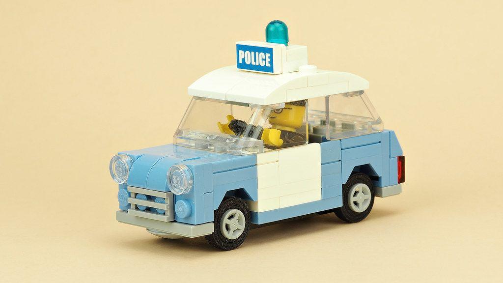 custom built lego UK Police Car INSTRUCTIONS ONLY