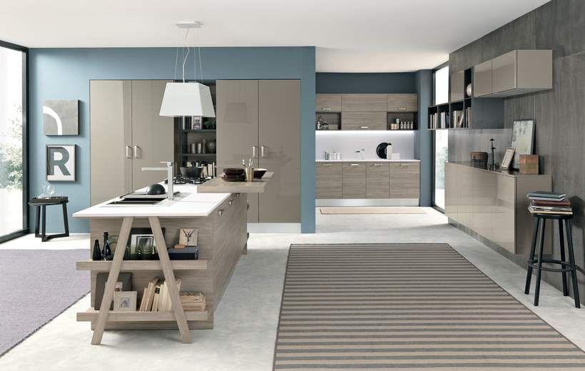 Cucine Moderne - Ice - Tortora - Febal Casa | house styling ...