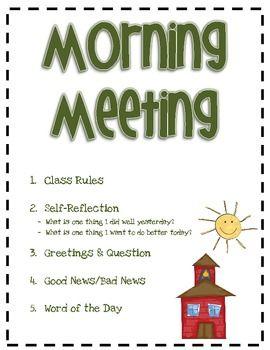 Morning Meeting  Met School And Morning Meetings