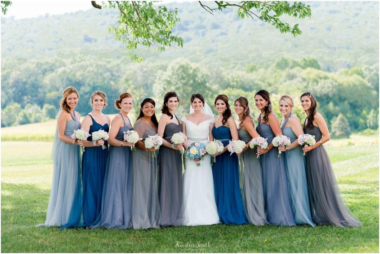 Shades of Blue | Real Weddings (Bridesmaids) | Pinterest | Wedding ...