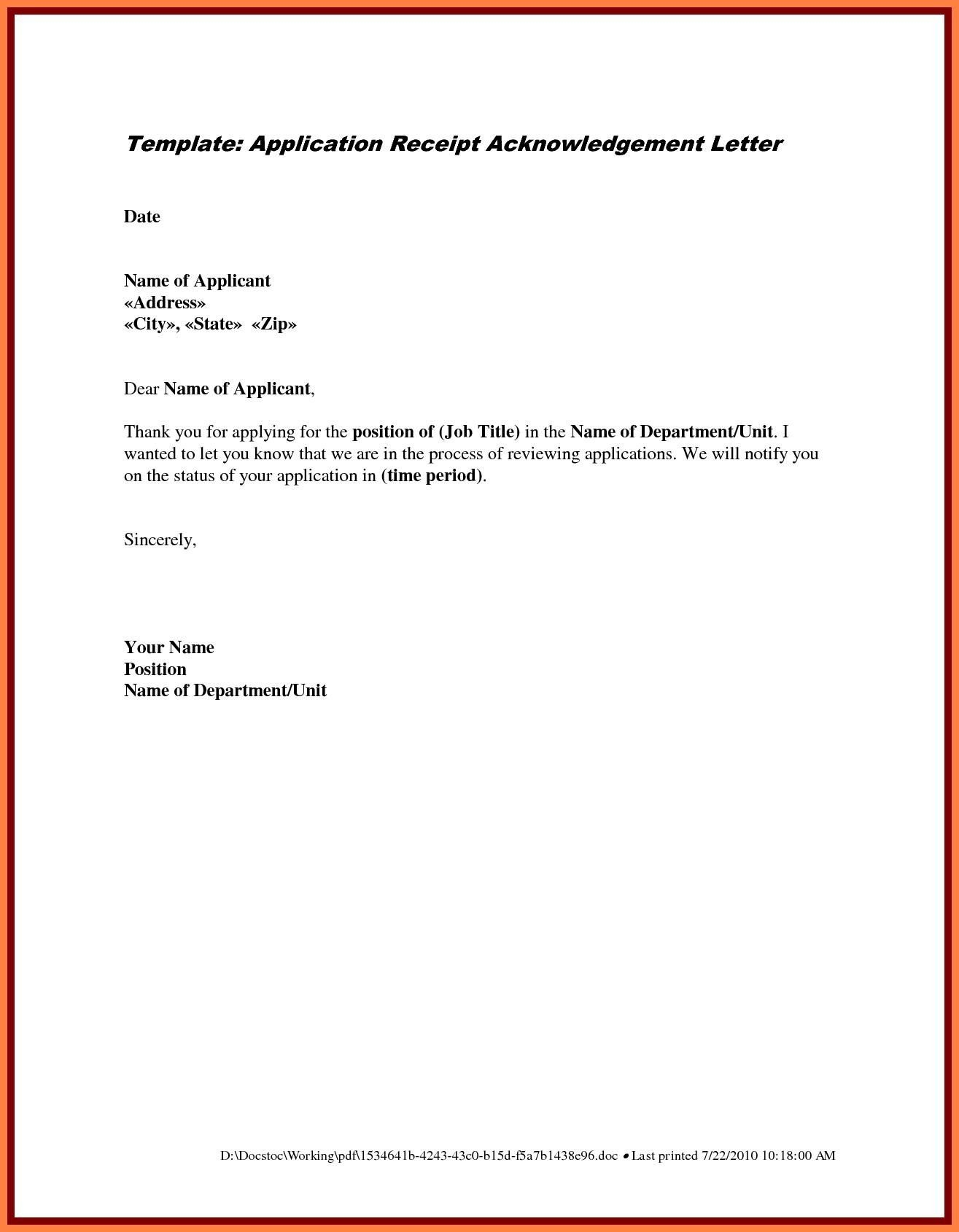 Cover Letter Sample Pdf