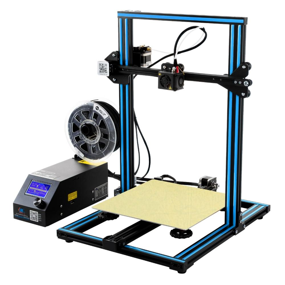 Creality 3d Cr 10 Blue Diy 3d Printer Kit 300 300 400mm Printing Size 1 75mm 0 4mm Nozzle Office Equipment From Computers Office On Banggood Com 3d Printer Kit Best 3d Printer 3d Printer Diy