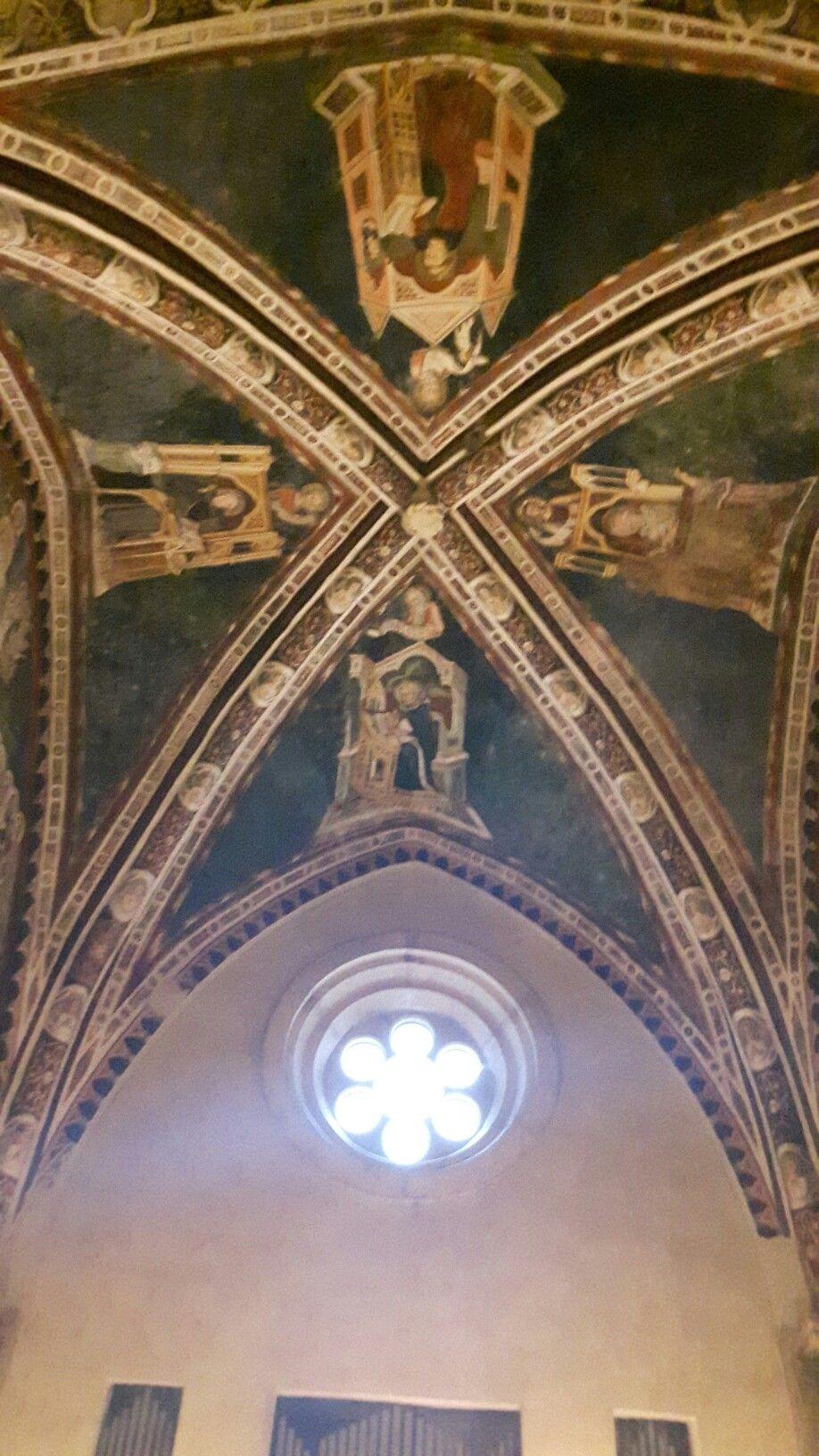 Subiaco Sacro Speco. Affreschi della volta della chiesa superiore.