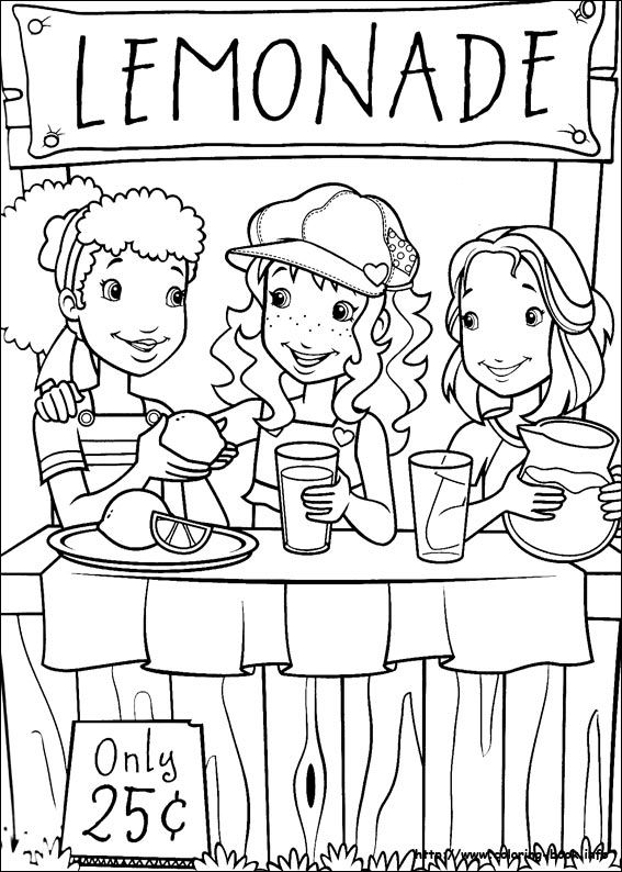 Holly Hobbie coloring picture | makers space | Colores, Pintar ...