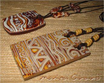 https://flic.kr/p/v44wU | necklace061220-04 | faux batik or mini mokume-gane technique