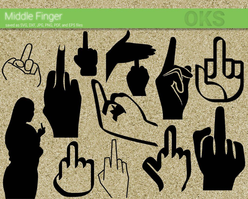 Middle Finger svg, dxf, vector, eps, clipart, cricut, download