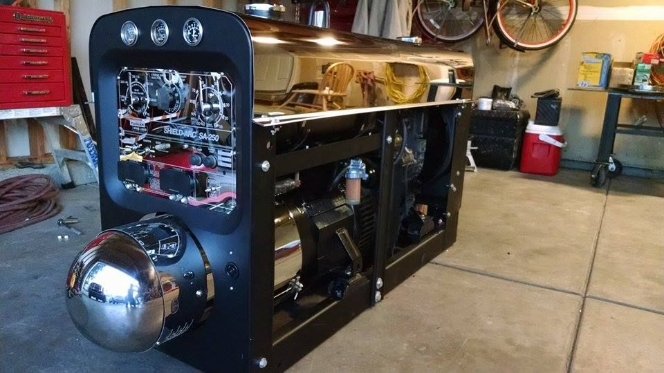 Machine built by James Orosco with some of the parts we ...