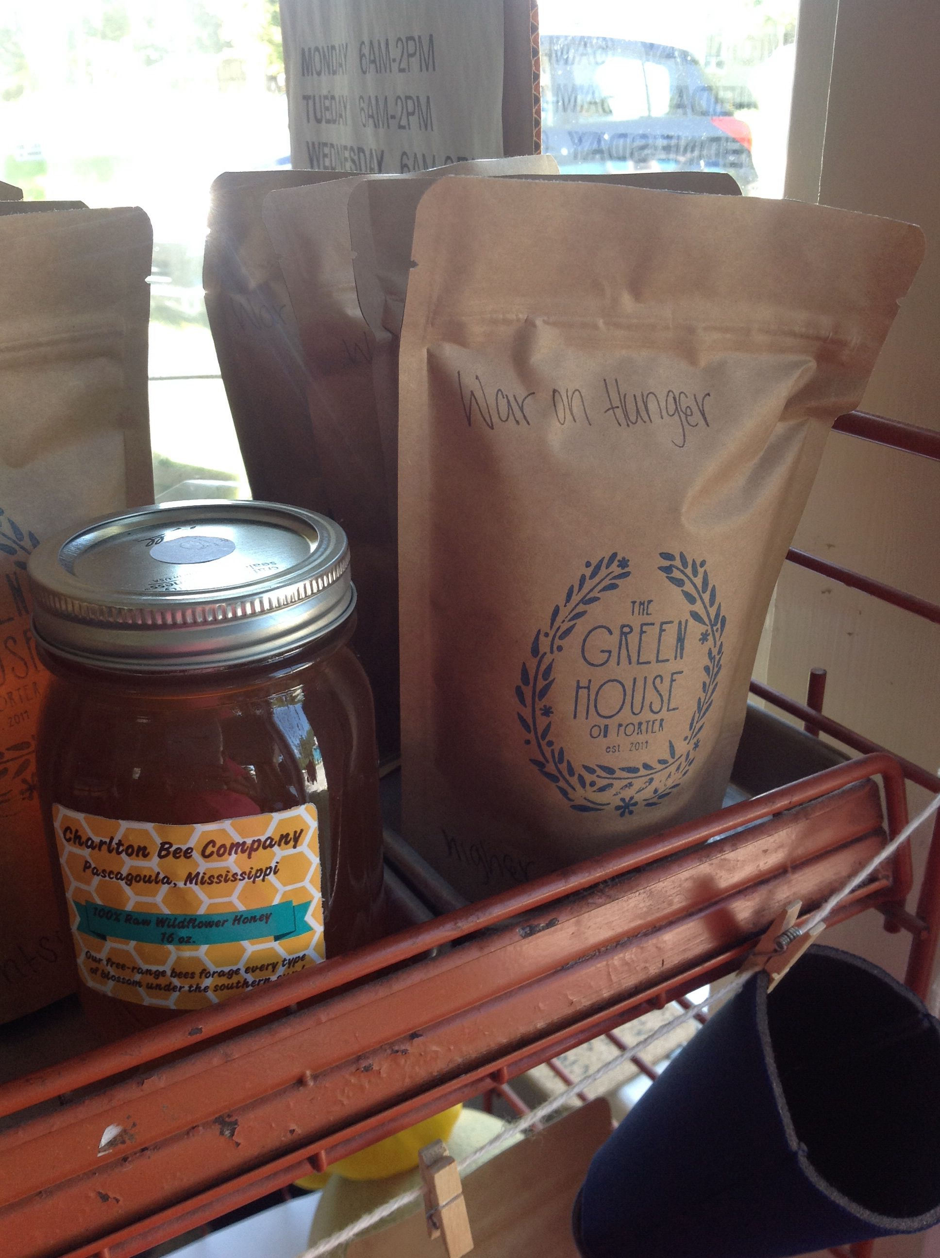 Greenhouse on Porter serves biscuits and coffee.  Check it out on Porter Avenue.