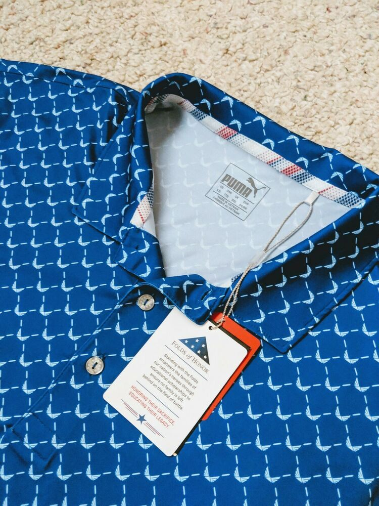 af870ae4 Puma Folds of Honor Golf Shirt Men's XXL Volition America Moisture Mgmt  Drycell #PUMA #