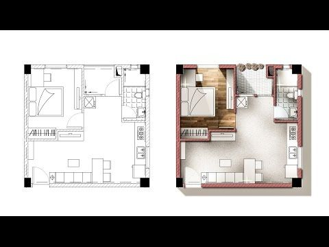 Tutorial Liven Up A Floor Plan In Photoshop 11min Youtube Bid 302a Pinterest