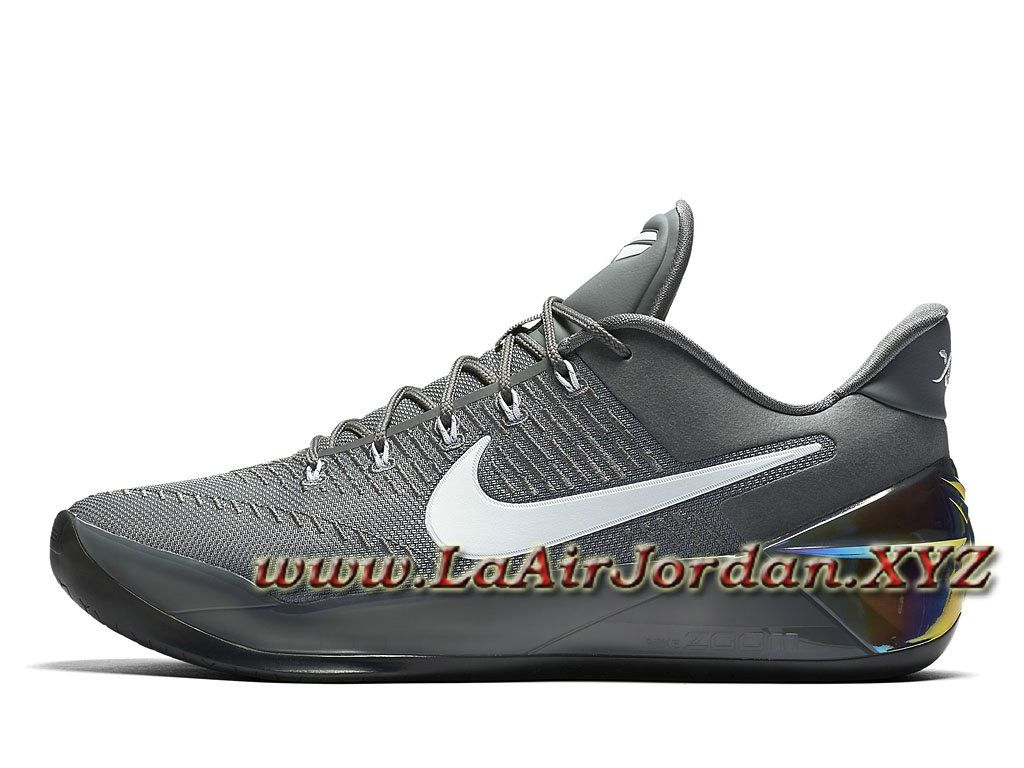 Nike Kobe A.D Cool Grey White 852425_010 Chaussures nike Pas cher Pour  Homme Grey