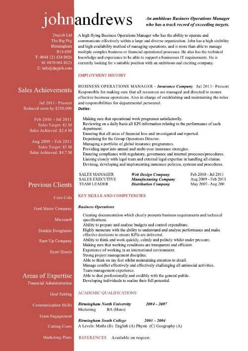business operations manager resume examples templates samples with director of operations resume - Director Of Operations Resume