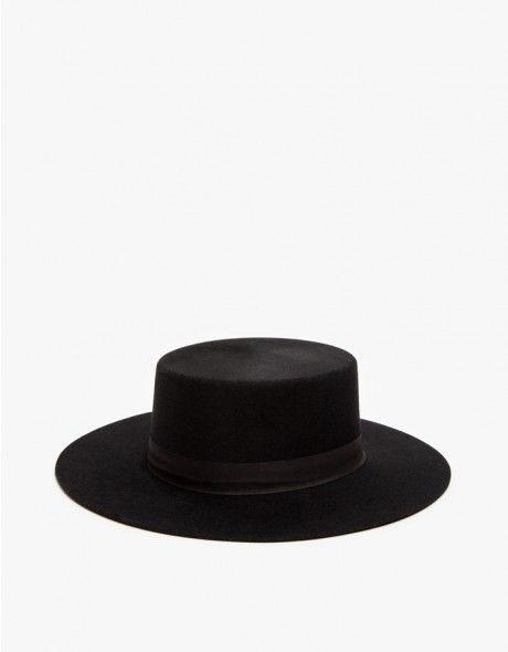 flat-top bolero-style wool felt hat 3eeb14afe68