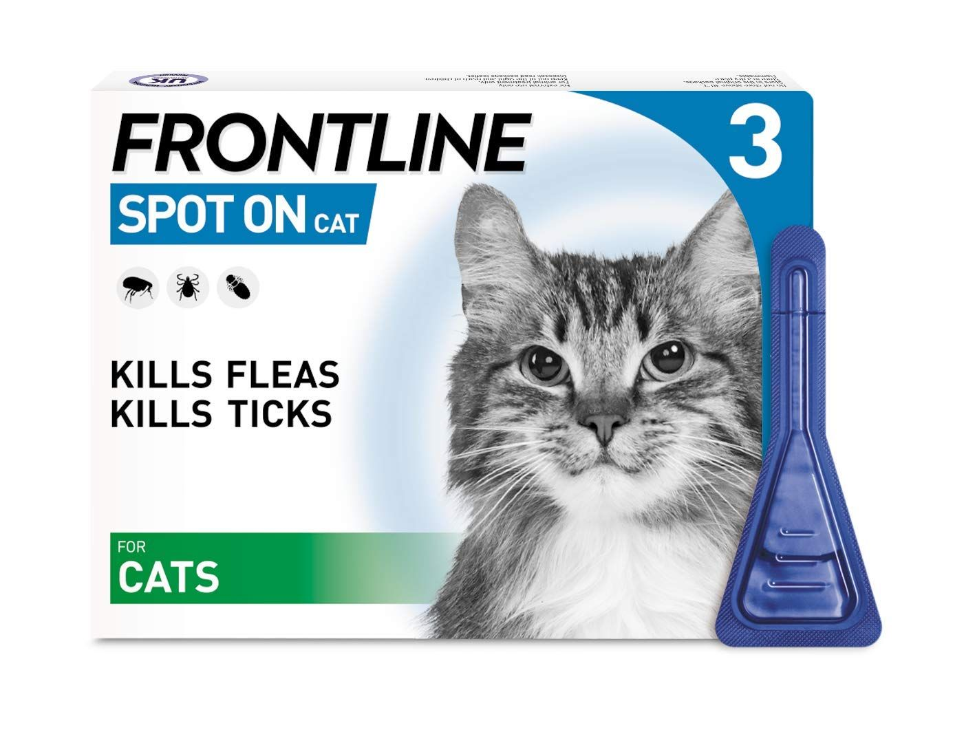 Kills fleas on your pet within 24 hours Kills ticks within