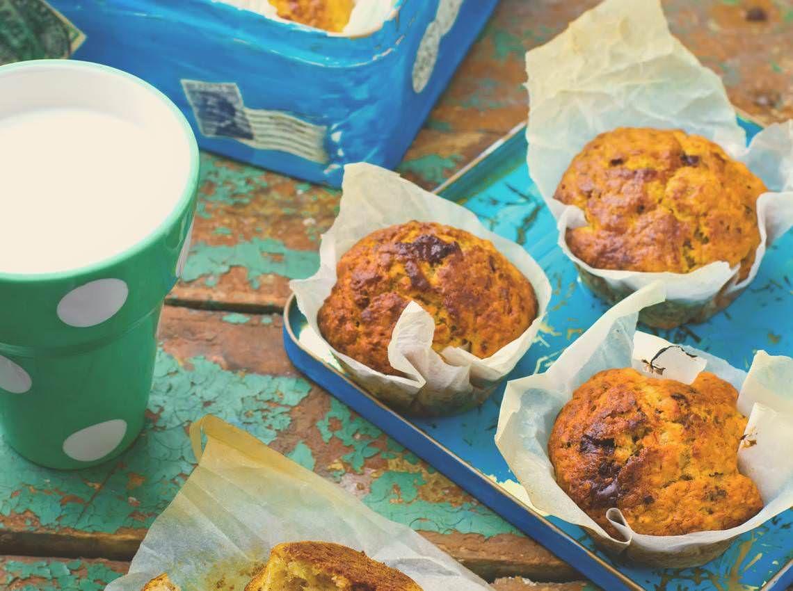 Muffins Banane Et Chocolat Des Petits Gateaux Energetiques Pour Le Gouter Des Enfants Recette Gateau Facile A Faire Gateau Facile Gouter