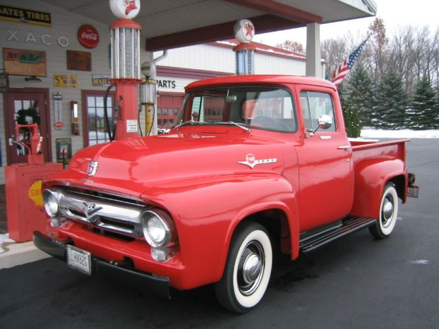 My Dream Truck 1956 Ford F100 Step Side With White Rim Tires