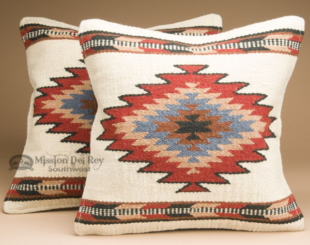 pair southwest wool pillow cover 18x18