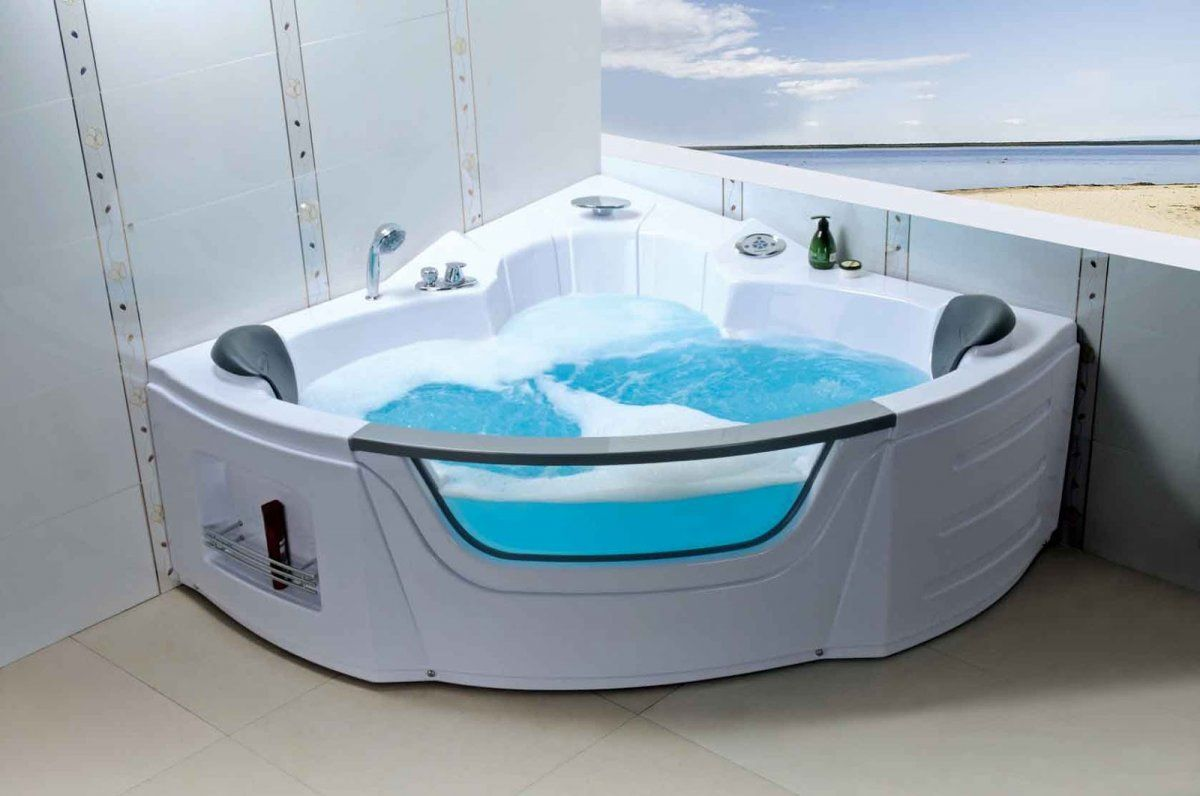Small Corner Bathtub Size | Hot Tubs & Jacuzzis | Pinterest | Corner ...